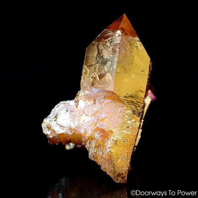 Golden Aura Starbrary Record Keeper Quartz Isis Crystal