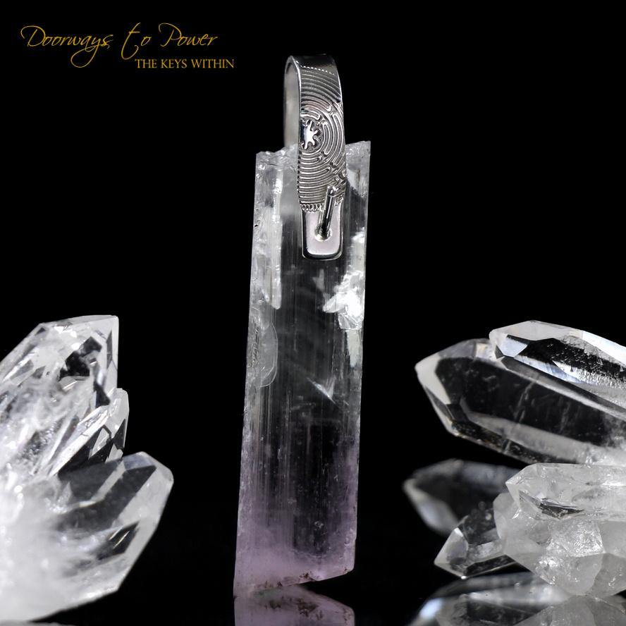 Kunzite Light Language Pendant ™ .925 SS