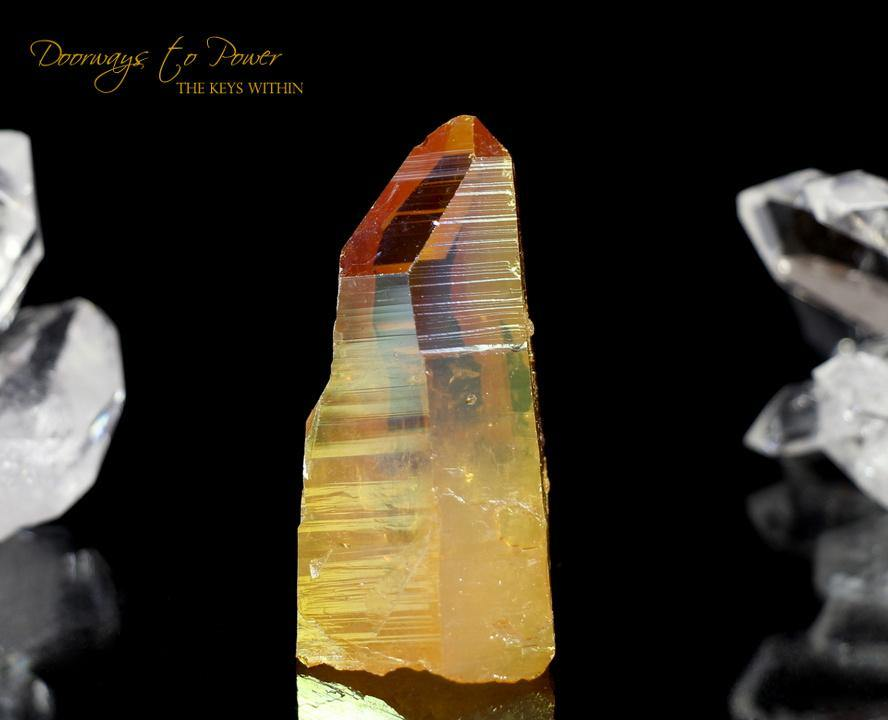 Golden Aura Lemurian Record Keeper Crystal