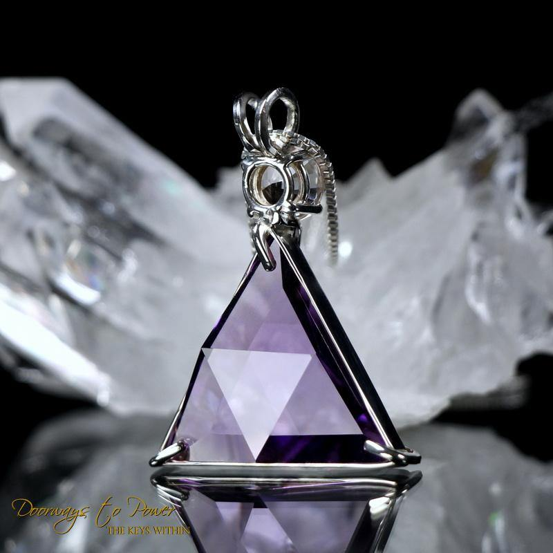 Amethyst Vogel Crystal Pendant Necklace