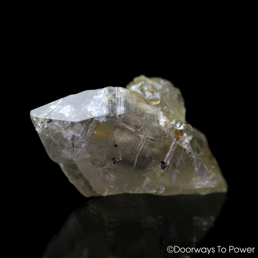 Golden Azeztulite Quartz Crystal Pleiadian Starbrary Azozeo Activated