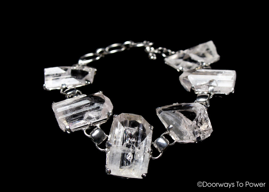 Danburite Synergy 12 Crystal Bracelet