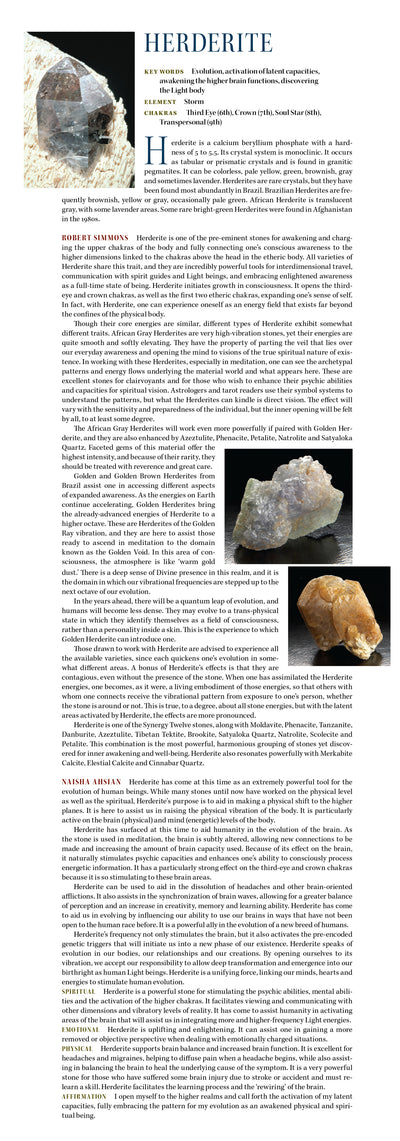 Golden Herderite Metaphysical Properties Book of Stones