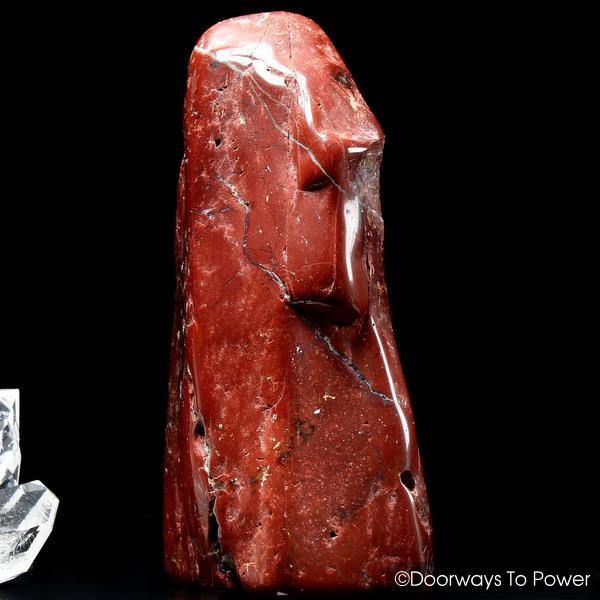 Red Fire Azeztulite Quartz Crystal Altar Stone