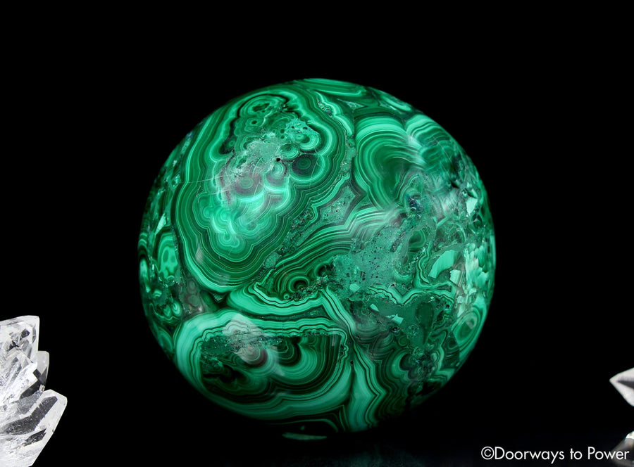 Malachite Crystal Sphere A +++ Collectors Quality