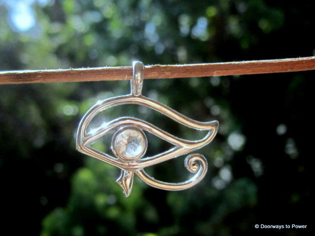 Libyan Desert Glass Eye of Horus Pendant