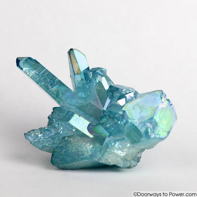 Aqua Aura Cluster with Master Record Keeper & Time Link Crystal