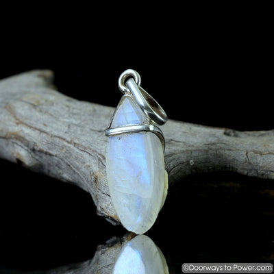 Rainbow Moonstone Pendant .925 Sterling Silver