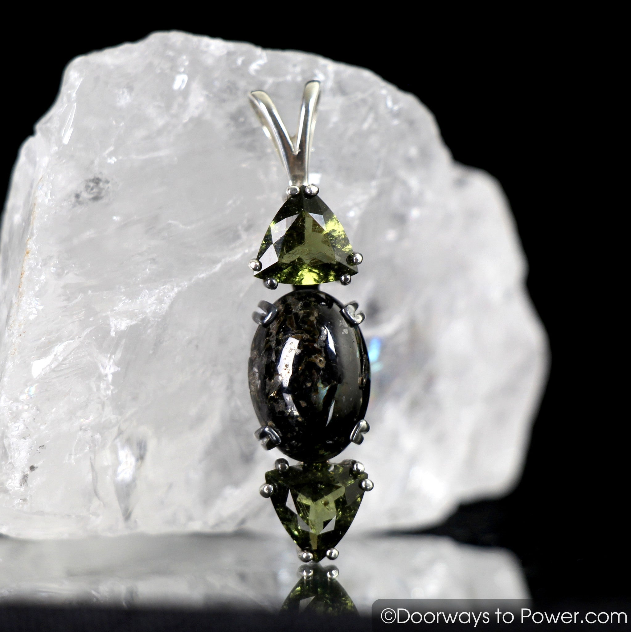 power shop our online collections phantom quartz pendant green
