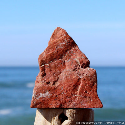 "Rare Red Fire Azeztulite Altar Stone ""Power & Passion"""