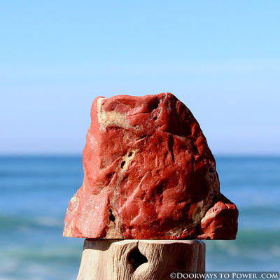 "Red Fire Azeztulite Altar Stone  ""Alchemical Transformation"""