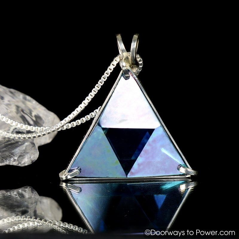Aqua Aura Star of David Vogel Crystal Pendant