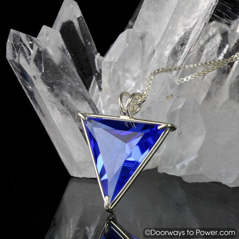 Siberian Blue Quartz Angelic Star Crystal Pendant