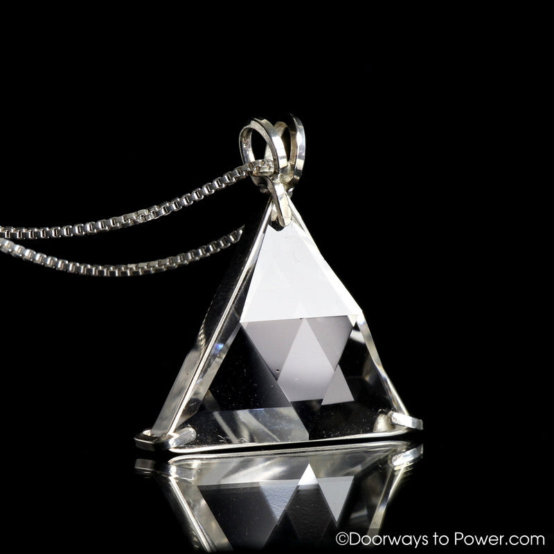 Clear Quartz Star of David Vogel Crystal Pendant .925 SS  'Protective Shield'