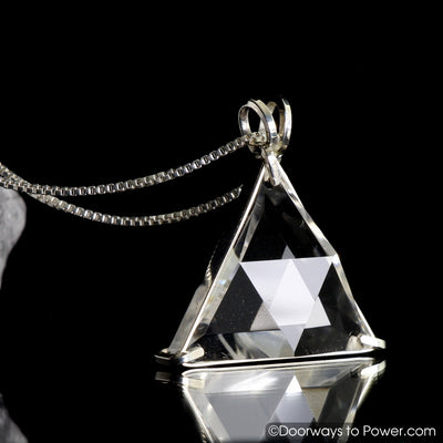 "Clear Quartz Star of David Vogel Crystal Pendant .925 SS  ""Protective Shield"""