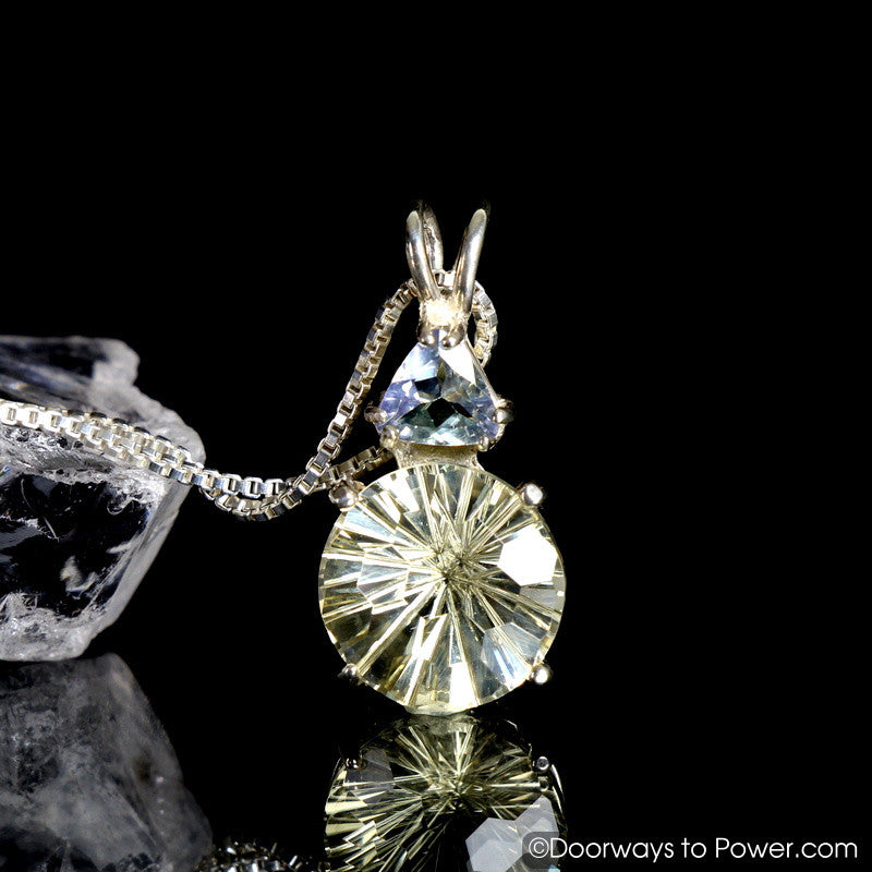 "Golden Labradorite & Tanzanite Super Nova Pendant  ""BRILLIANCE"""