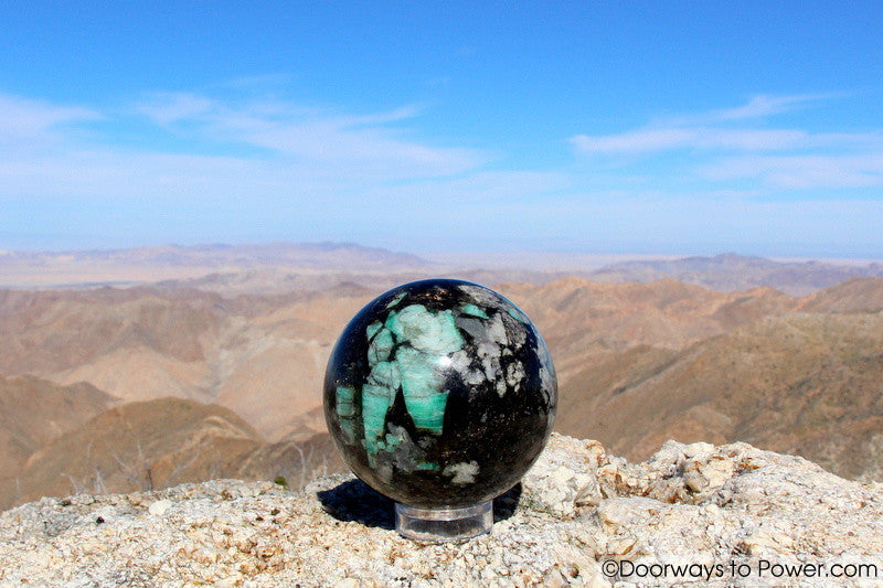 "Emerald Crystal Sphere Stunning 3.8""  'Collectors Quality'"