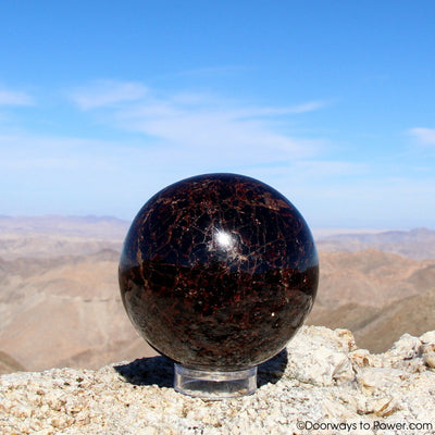 "Almandine STAR GARNET Sphere 3.8"" A++ ""Collectors Quality"""