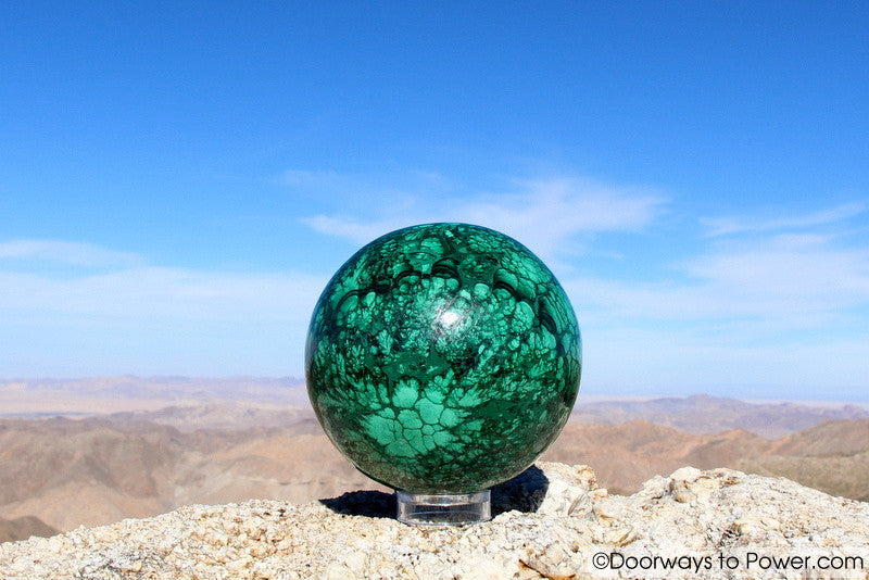"Malachite Crystal Sphere 4.8"" A +++ Collectors Quality"