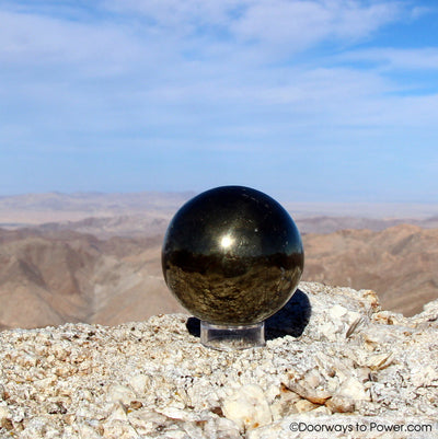 "Pyrite Polished Crystal Sphere ""Power & Manifestation"""