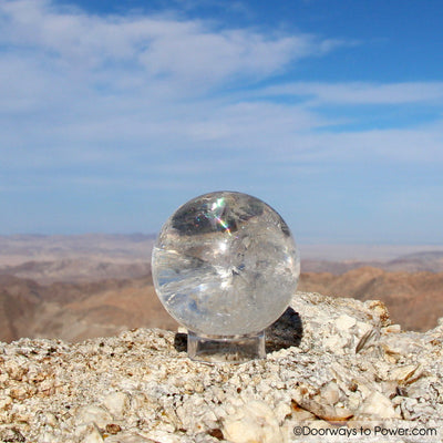John of God Blessed Clear Quartz Crystal Sphere