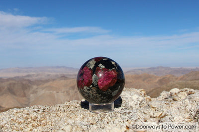 Eudialyte Aegirine Crystal Sphere A +++ Collectors Quality""