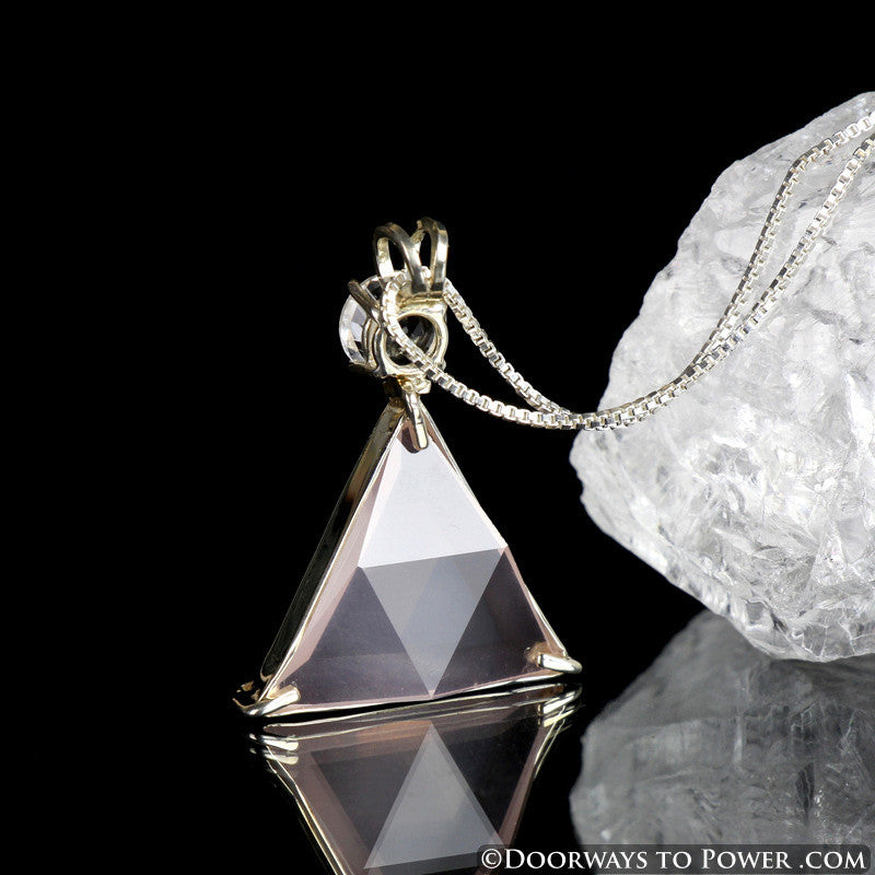 Rose Quartz & Danburite Star of David Pendant