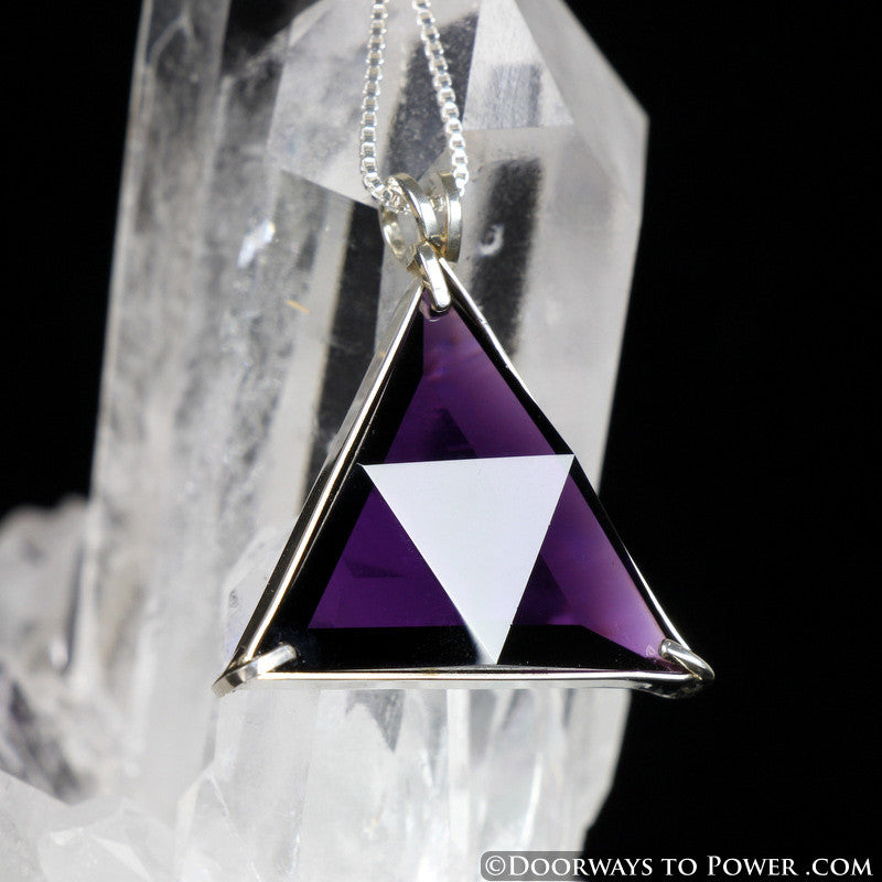 Siberian Purple Quartz Star of David Vogel Crystal Pendant