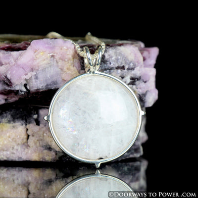 Reserved for Ahmed Rare Natrolite Crystal Circle Pendant - Synergy 12