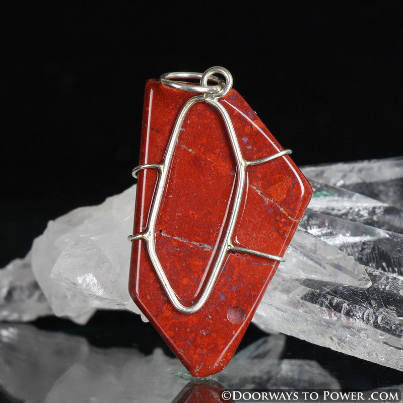 "Red Fire Azeztulite Crystal Pendant ""Power & Passion"""