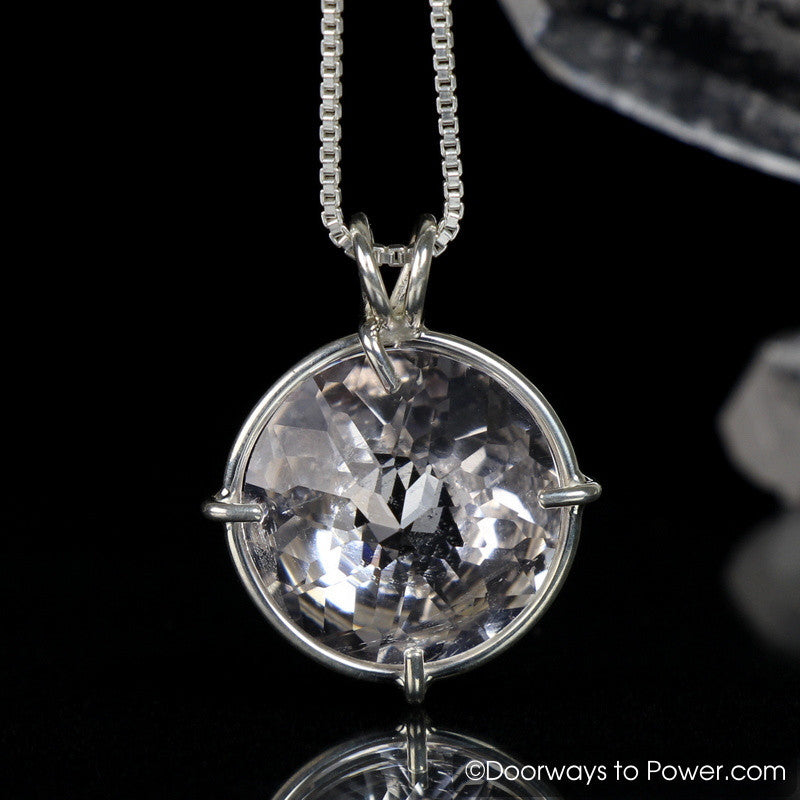 Danburite Radiant Heart Pendant Signature Collection