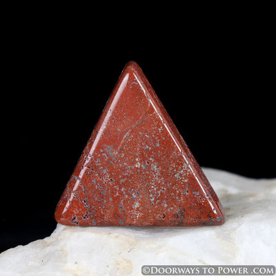 Red Fire Azeztulite Tumbled & Polished Stone