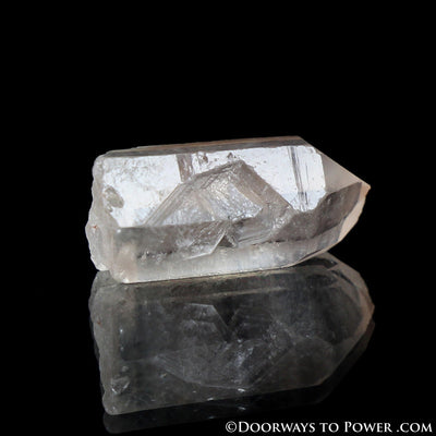Satyaloka Clear Azeztulite Quartz Crystal Point - Record Keeper