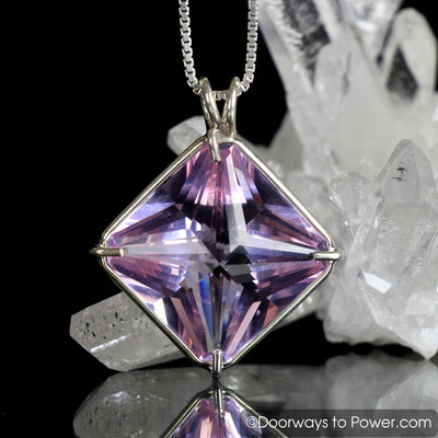 Ruby Lavender Quartz Pendant Lost Stone of Atlantis