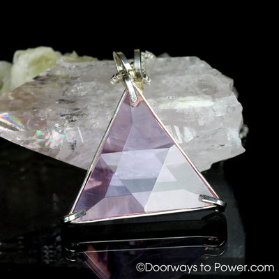 Rare Ruby Lavender Quartz Star of David Pendant