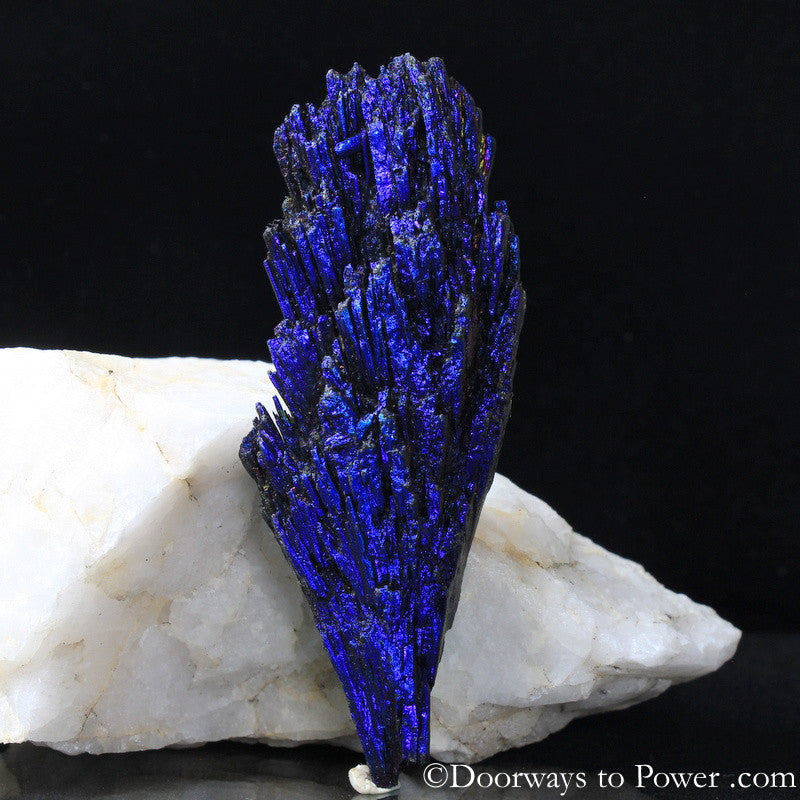 Magical Aqua Aura Black Kyanite Crystal A +++