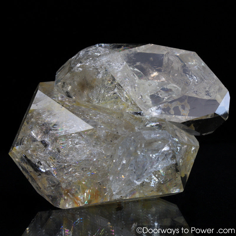 Herkimer Diamond Double Terminated Tantric Twin Record Keeper Crystal