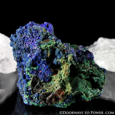 Royal Blue Azurite with Malachite Mineral Specimen A +++ Quality
