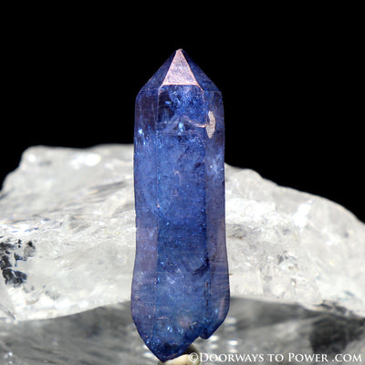 Tanzine Aura Himalayan Quartz Record Keeper Twin Crystal