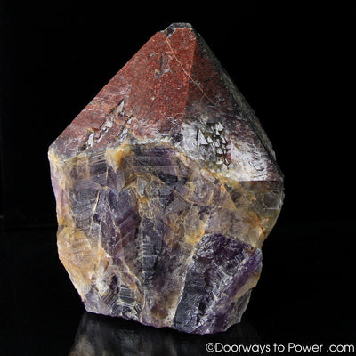 Auralite 23 Altar Stone Record Keeper Crystal w/ Red Tip
