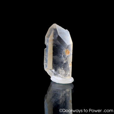 Satyaloka Clear Azeztulite Quartz Crystal Point w/ Time Link
