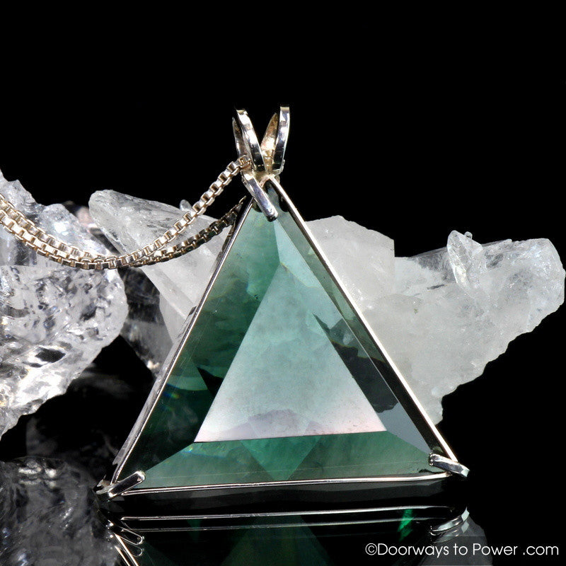 Siberian Green Star of David Protection & Prosperity Pendant