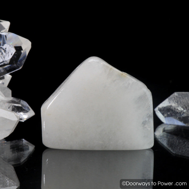 White Azeztulite Azozeo activated Crystal Polished & Tumbled
