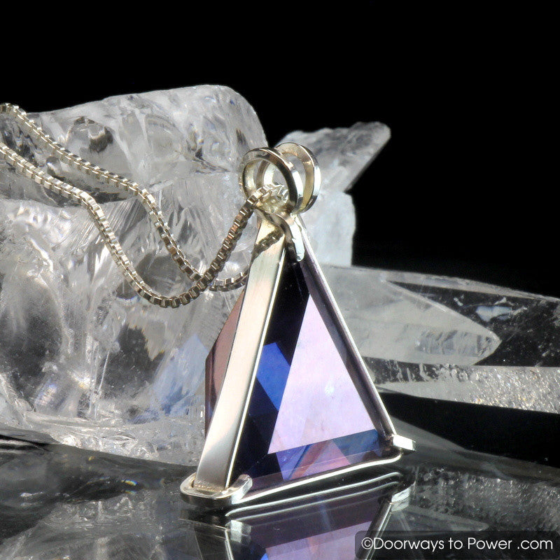 Tanzine Aura Quartz Star of David Vogel Crystal Pendant