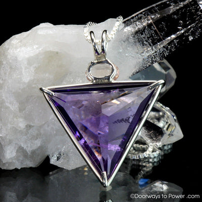 Amethyst Quartz Morganite Angelic Star Crystal Pendant