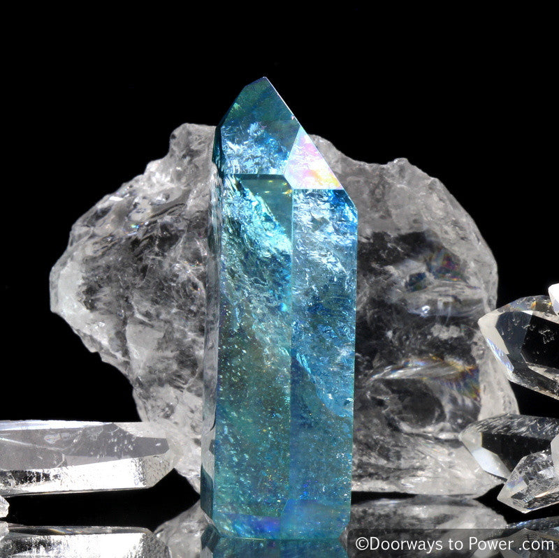 Aqua Aura Quartz Crystal Point - Master Initiation Channeling