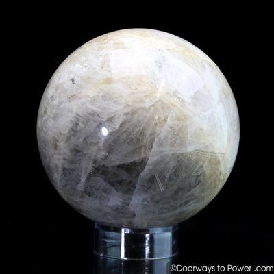 Natrolite Polished Gemstone Sphere  Gorgeous 'Collectors Quality'
