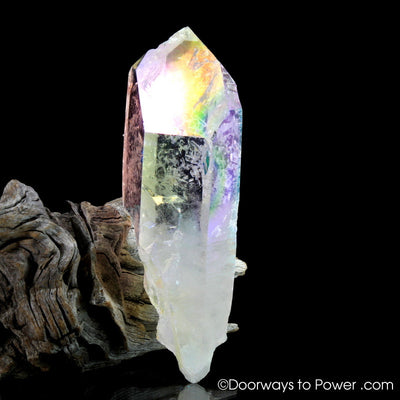 Angel Aura Lemurian Temple Heart Dow Record Keeper Crystal