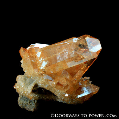 Reserved for MT Tangerine Aura Imperial Gold Twin Channeling Abundance Crystal