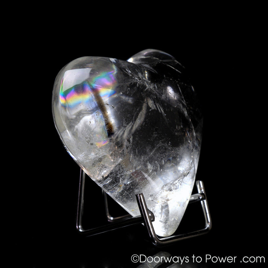 Lemurian Light Crystal Heart w/ Rainbows 'Heart of Lemuria' (Very Rare)